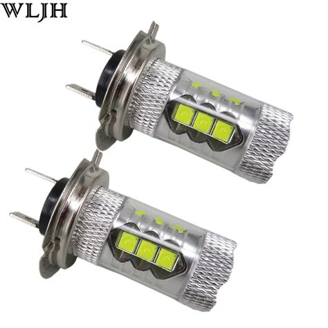 len 24v wljh 2x 24v 12v 1200 lumen 80w h7 led bulb with projector