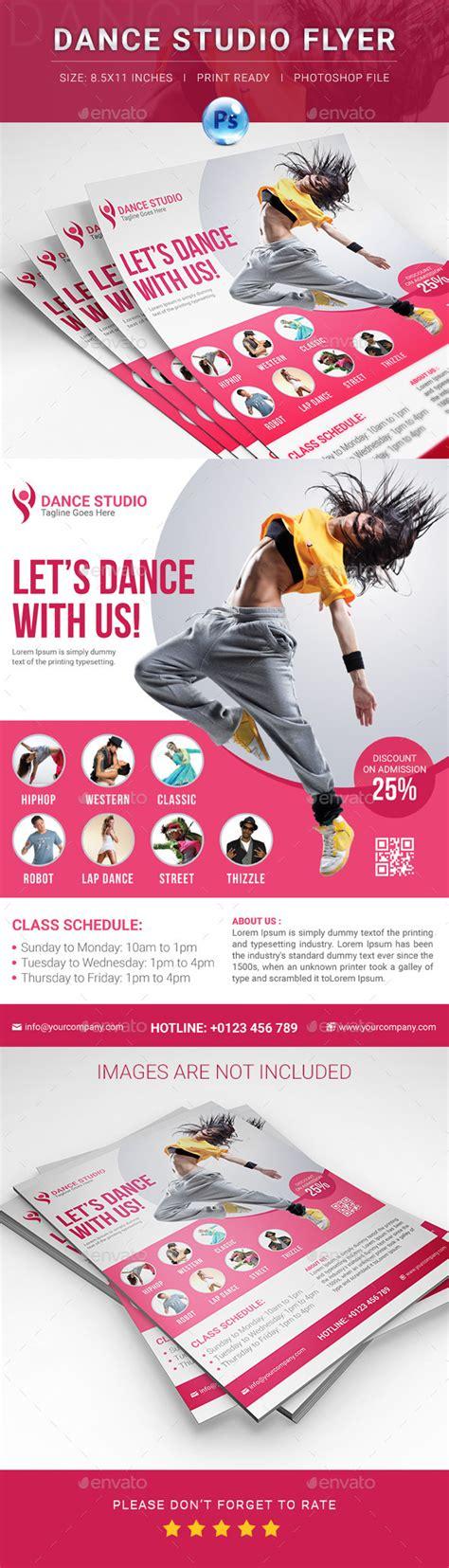 templates for dance flyers dance studio flyer by elite designer graphicriver