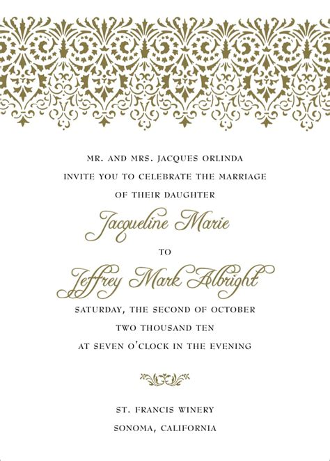 Non traditional wedding invitation wording template best template