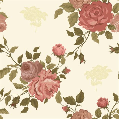 pattern flowers vector vintage flower wallpaper pattern free vector download