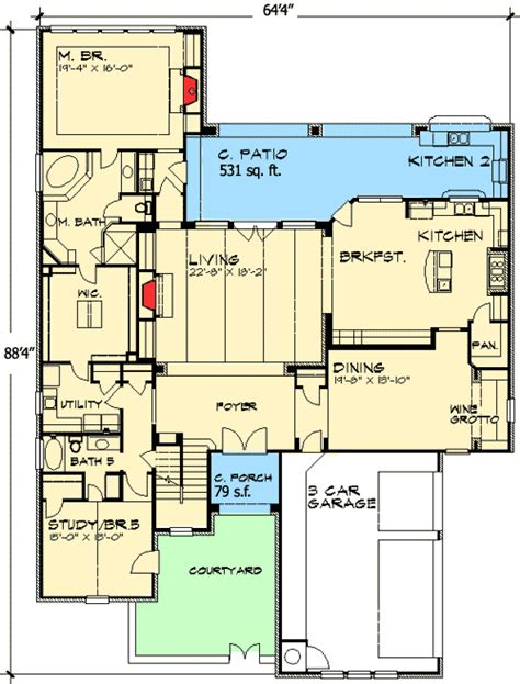 Game Room Floor Plans Ideas by Five Bedrooms Or Game Room And Study 36845jg 1st Floor