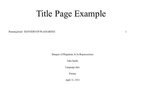 Apa Title Page Format For Research Paper by Apa Cover Page Exle Title Page Exle Apa Title Page Writing A Research Paper Mla Workby