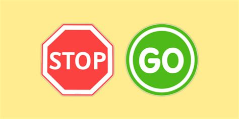 Go Go Go Stop stop and go road signs stop go road signs road signs