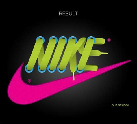 tutorial logo nike 50 creative typography and text effect exles and