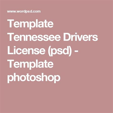 tennessee drivers license template mejores 54 im 225 genes de novelty psd usa driver license