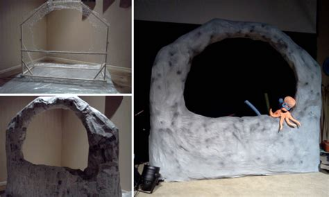 How To Make A Paper Mache Cave - vbs cave