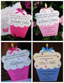 diy cupcake birthday invitation by palmbeachpolkadots on etsy