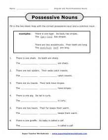 possessive noun activities for 4th grade possessive