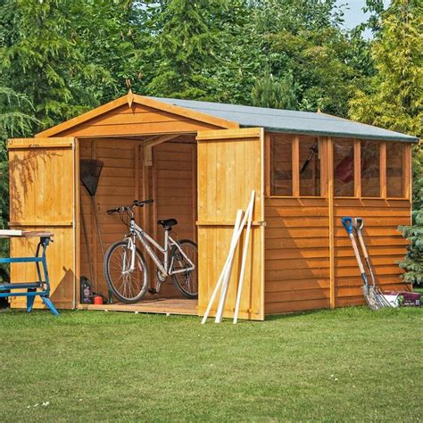 Buy Shed Uk by Buy Homewood Wooden Overlap Shed 12 X 8ft At Argos Co Uk