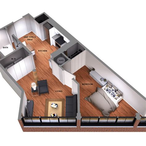 2 bedroom efficiency 95 lofts 183 modern apartment living in pvd s hottest new