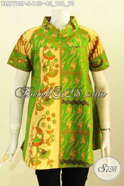 Blus Hijau by Batik Blus Hijau Mewah Model Kekinian Pakaian Batik