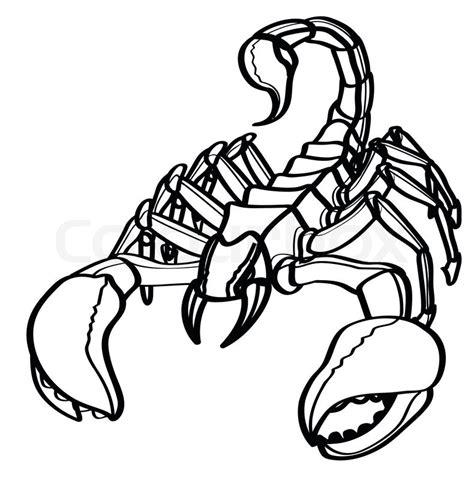 Deathstalker Coda scorpion stock vector colourbox