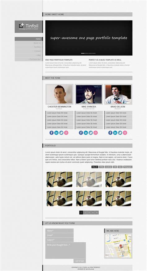 Cizarua Responsive One Page Portfolio Template tinfoil responsive one page portfolio template by