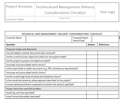 technical approach document template define scope templates project management templates