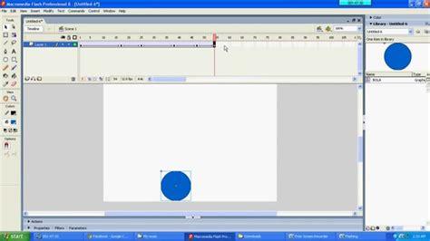 bagaimana membuat video animasi cara membuat animasi sederhana adobe flash 8 youtube