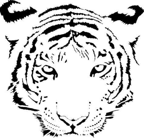 roaring tiger face coloring pages