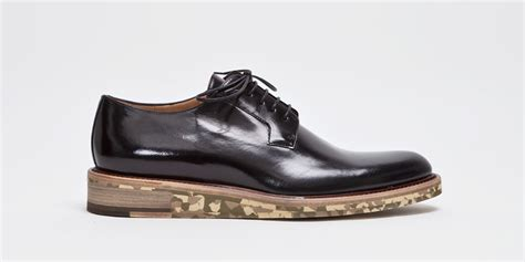 dries noten derby shoe black camouflage highsnobiety