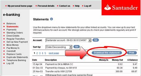 santander consumer bank onlinebanking image gallery e banking santander