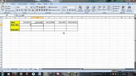 elaboracion de un registro automatico en excel parte 2 funci 243 n redondeo funnydog tv