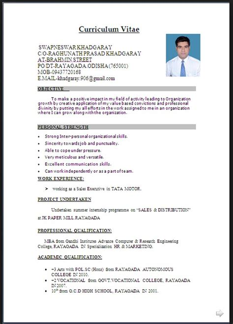 Best Resume Demo by Resume Format Word Free Resume Templates