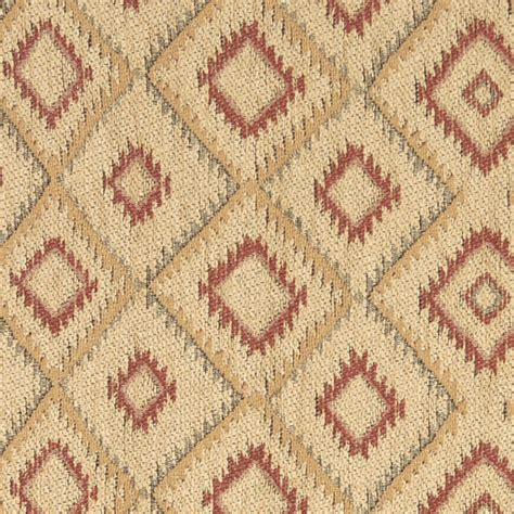rustic upholstery fabric beige gold and red diamond southwest style upholstery