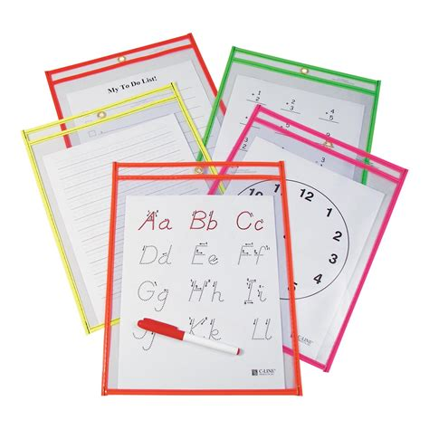c line products templates heavyweight erase pockets