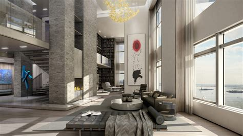 Apartment Layout by Sky High Living Inside The Penthouses Of 10 Of Manhattan