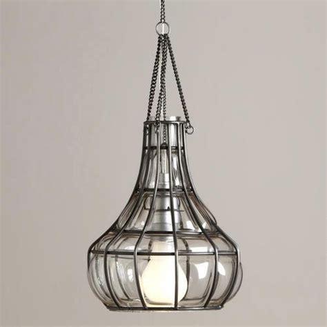 World Market Pendant Light Blown Glass Basket Pendant World Market