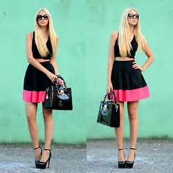 Topshops Take On The Prada Skirt by Lidiya Ostafiychuk Prada Heels Gucci Sunglasses H M T