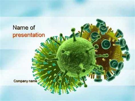 Hiv Virus Powerpoint Template Youtube Virus Powerpoint Template