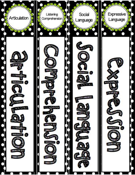 Editable Speech And Language Binder Labels Speech 2u Free 1 Binder Spine Template