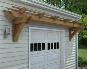 Rough cut cedar eyebrow breeze wall mount pergolas
