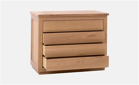 commode chene commode moderne 4 tiroirs en ch 234 ne huil 233 caro delorme
