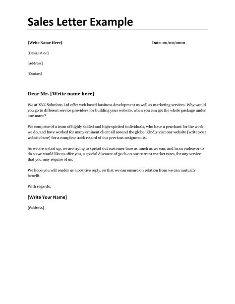 Business Sales Letter Mughals Letter Template
