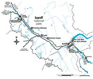 Map Of Banff Canada by Parks Canada Banff National Park Campground Locations