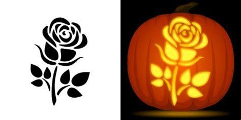 rose pumpkin carving stencil   pattern