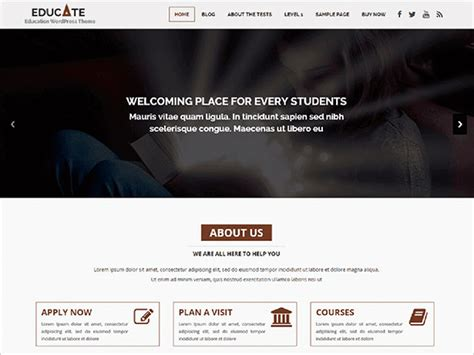 wordpress themes for computer institute 20 best free wordpress themes of 2018 for schools