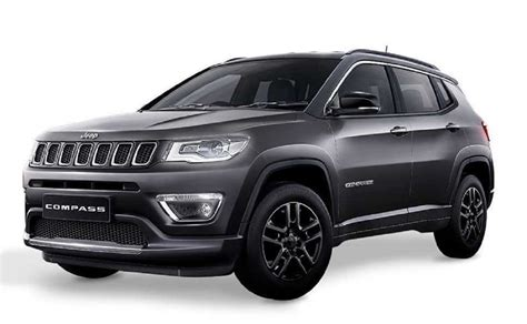 jeep compass limited black jeep compass black pack limited edition debutta in india