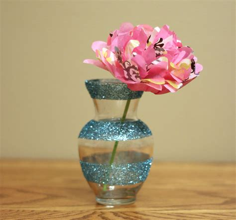 Flowers In Vases Ideas by Dollar Decor Girly Glitter Vases