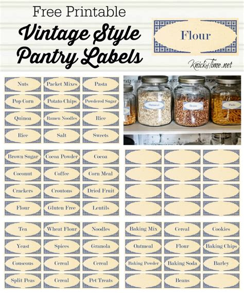 Kitchen Pantry Labels by Vintage Style Pantry Labels From Knickoftime Net