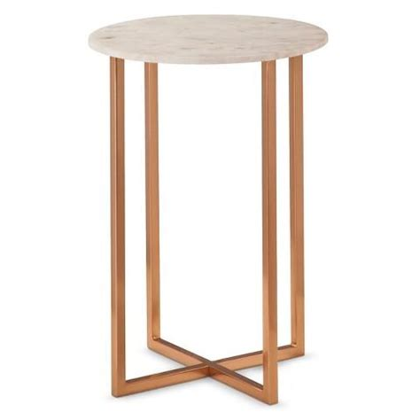 Marble Accent Table White Marble Accent Table