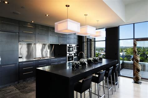 modern black kitchen modern kitchen design inspiration