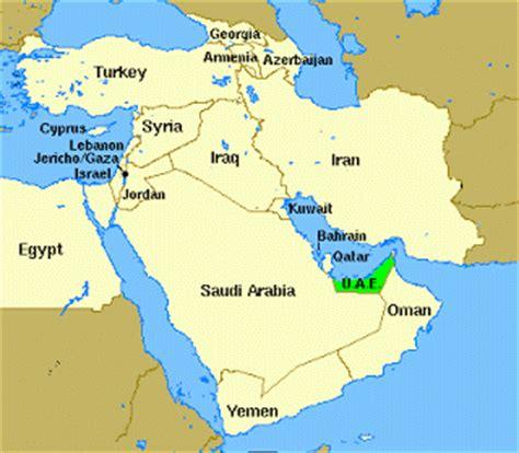map of arab gulf states christopher s expat adventure united arab emirates