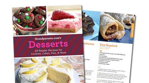 printable recipes for desserts desserts a free printable cookbook from grandparents com