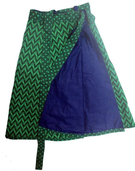 Reversible shweshwe wrap skirt by helgé original hand made