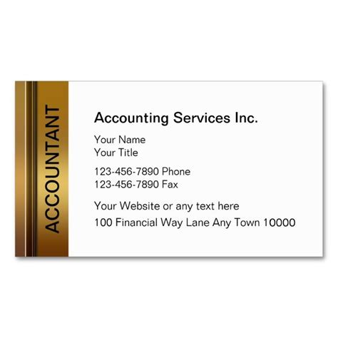 accounting business card templates 1996 best images about accountant business cards on