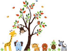 Nursery Animal Wall Decals Nursery Wall Decal Baby Wall Decal Childrens By Stickemupwallart