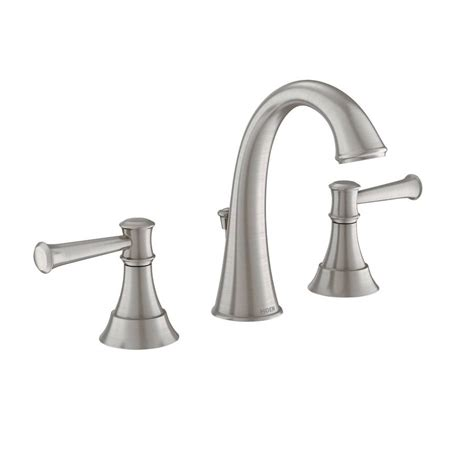 moen brushed nickel bathroom faucet shop moen ashville spot resist brushed nickel microban 2