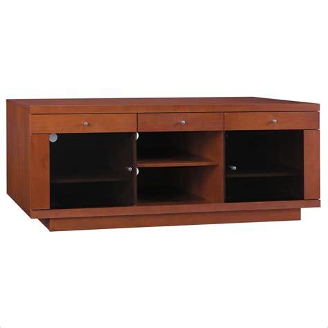 maple wood tv cabinet bush furniture 60 quot wood plasma cognac maple finish tv