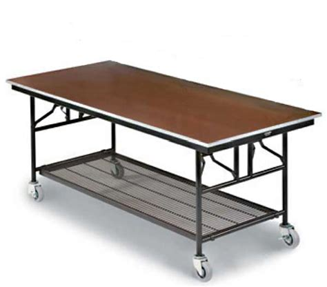 Folding Utility Table by Midwest Mu308e 30 Quot X 96 Quot Plywood Top With Steel Edge